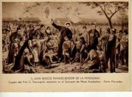 S. JUAN BOSCO EVANGELIZADOR DE LA PATAGONIA CUADRO DE C. THERMIGNON EN EL FORTIN MERCEDES RARISIME ARGENTINA  OHL - Argentine