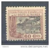 GUI175-A459TAN.Guinee.GUINEA      ESPAÑOLA.LA CASA DE NIPA.1924 (Ed 175**) Sin Charnela.MAGNIFICO - 1889-1931 Reino: Alfonso XIII