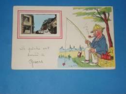 Cpa 27 La Peche Est Bonne A GISORS Carte Humoristique Illustrateur  Signee - Gisors