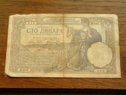 100 DINARA 1929 - H.0599 - 112 ( 14965112 ) ( Voir Photo Pour Détail Svp / For Grade, Please See Photo ) ! - Yougoslavie