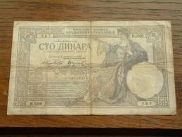 100 DINARA 1929 - H.0308 - 797 ( 07690797 ) ( Voir Photo Pour Détail Svp / For Grade, Please See Photo ) ! - Yougoslavie