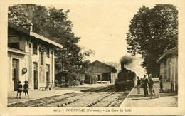 N°23352 -cpa Podensac -la Gare Du Midi- - Estaciones Con Trenes