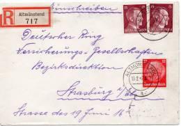FRANCE ALSACE LETTRE RECOMMANDEE ALTMÜNSTEROL 1942 - Alsace-Lorraine