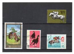 4 Timbres Avec Chevaux   (oblitérés) - Horses