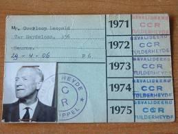 TULPERHEYDE POPPEL België / ABONNEMENT CAMPING ( Overloop Leopold Deurne ) Anno 1971/72/73/74/75 ( Zie Foto ) ! - Tickets - Vouchers