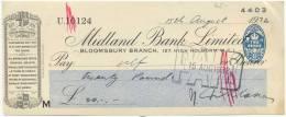 Midland Bank Cheque 20 Pounds 1932 - Gran Bretagna