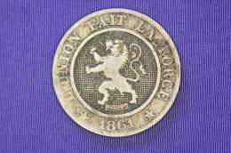 Belgium - 10 Centimes - Leopold I - 1861 - 1831-1865: Léopold I
