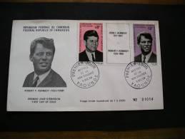 FDC CAMEROUN ROBERT F KENNEDY CACHET 5 DEC 68 YAOUNDE - Cameroon (1960-...)