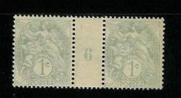 FRANCE TYPE BLANC N° 107 *  MILLESIME 6 DE 1916 TYPE I B - Millésime