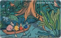 Bremer Karte - Tramticket,Straßenbahnfahrkarte - Bremer Stadtmusikanten - Dschungel - Andere Sammlungen