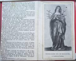 IMAGE Pieuse Don Pour Notre Dame Des VII 7  Douleurs A Cambron Casteau A Envoyer A Coppin André Deschamps Paternotte - Imágenes Religiosas