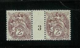 FRANCE TYPE  BLANC N° 108 *  MILLESIME 3 DE 1913 - Millésime