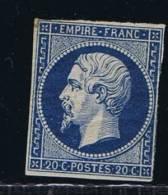 France, 1852 Yv 14Atype I  Mi 13, Bleu Foncé, Has A Fold, Neuf Avec ( Ou Trace De) Charniere / MH - 1853-1860 Napoléon III