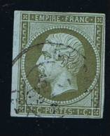 France, 1852 Yv 11 Mi 10,   Vert Olive Foncé/dark Olive, Oblitéré / Cancelled