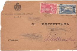 FRANCIA 1924 STORIA POSTALE GIOCHI OLIMPICI PARIGI - Marcophilie (Lettres)