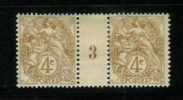 FRANCE TYPE  BLANC N° 110 *  MILLESIME 3 DE 1903 - Millésime