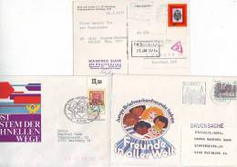 "904h: Vier Deutschland- Belege ""Kinder Und Jugend"" - Kind & Jugend"