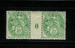 FRANCE TYPE  BLANC N° 11 **  MILLESIME 0 DE 1900 CHARNIERE SUR LE PONT - Millésime