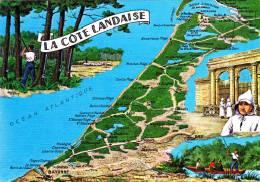 40 Carte LABENNE SOUSTONS LEON LINXE UZA BIAS LE TEICH SANGUINEC CASSY PONTENX LIT ET MIXE ONDRES SAUBUSSE CASTETS - Sonstige Gemeinden