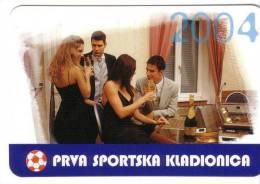 SPORTS BETTING ( Croatia Small Calendar ) Casino Lottery Lotterie Lotto Loto Football Soccer Calcio Fussball Foot Calcio - Small : 2001-...