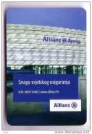ALLIANZ INSURANCE ( Croatia Small Calendar ) Assurance Seguro Versicherung Assicurazione Verzekering Petit Calendrier - Calendars