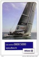 ALLIANZ INSURANCE - BMW Car & SAILING ( Croatian Small Calendar ) Assurance Versicherung Assicurazione Petit Calendrier - Small : 2001-...