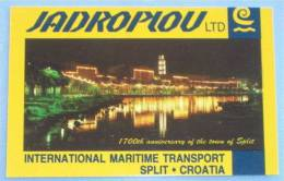 JADROPLOV Ltd - International Maritime Transport ( Croatian Small Calendar ) Cargo Ship Buque De Carga Frachtschiff Nave - Small : 1991-00