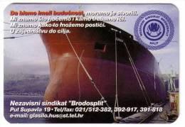 SPLIT SHIPYARD ( Croatia Small Calendar ) Ship Yard Chantier Naval Astillero Werft Cantiere Navale Estaleiro Scheepswerf - Small : 1991-00