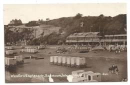 Sandown (Royaume-Uni, Isle Of Wight) : Western Esplanade And The Beach In 1910 (lively). - Sandown