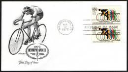 CYCLING - UNITED STATES WASHINGTON 1972 - OLYMPIC GAMES MUNICH '72 - FDC - Summer 1972: Munich
