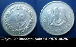 Libya - 20 Dirhams -KM# 14 -1975 -aUNC - Libya