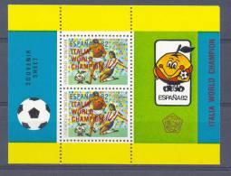 Mgm1124 VOETBAL SOCCER WORLD CHAMPIONSHIP FOOTBALL WK RED ** OPDRUK  OVERPRINT ** INDONESIA 1982 PF/MNH - Wereldkampioenschap