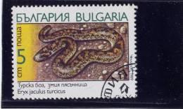 Bulgaria, 1989, USED,  # 3491 , SNAKES - Bulgarie