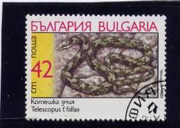 Bulgaria, 1989, USED,  # 3495 , SNAKES - Bulgarie