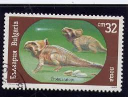 Bulgaria, 1990, USED,  # 3544 ,  Dinosaurs - Oblitérés