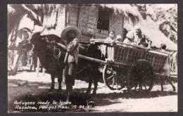 PH8) Rosalea, Philippines - Refugees Ready To Leave - Dec 24, 1941 - Japanese Invasion - RPPC - Filippine