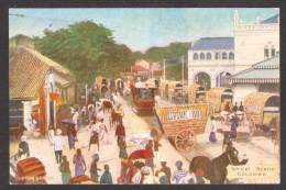 SR11) Ceylon - Street Scene - Colombo - Lipton Tea Advertising - Sri Lanka (Ceylon)