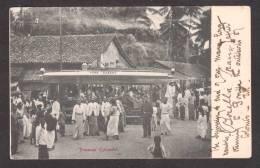 SR29) Colombo, Ceylon - York Street Tramcar / Streetcar  - Undivided Back - Sri Lanka (Ceylon)