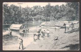 SR31) Ceylon - Ferries And People At The Ford - 1908 - Sri Lanka (Ceylon)