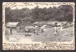 SR32) Ceylon - Ferries And People At The Ford - 1903 - Sri Lanka (Ceylon)