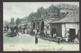 SR33) Colombo, Ceylon - Hindoo Temple, Pettah - Undivided Back - Sri Lanka (Ceylon)