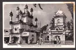 SR38) Colombo, Ceylon - Mohammedan Mosque, Cinnamon Gardens - RPPC - Sri Lanka (Ceylon)