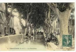 Carte Postale Ancienne Graveson - La Roubine - Métiers, Laveuses, Lavandières - France