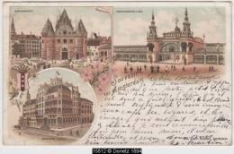 15812g HOTEL - Place - Palais D'Exposition - 1897 - Mosaïque - Litho - Amsterdam