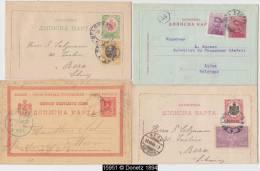 15951 Serbie Lot De 13 Entiers Postaux 1891-1904 Postal Stationery Oblitérés Used - Serbie
