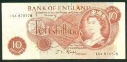 GREAT BRITAIN , 10 SHILLINGS (1966-70) , P-373c - 1952-… : Elizabeth II