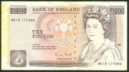 GREAT BRITAIN , 10 POUNDS (1988-91) , P-379e - 1952-… : Elizabeth II