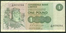SCOTLAND , 1 POUND 1.2.1980. P-204c - 1 Pound