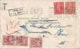 Lettre (de Grande Bretagne) - Taxée - Postmark Collection (Covers)