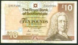 SCOTLAND , 10 POUNDS 26.3.1987 . P-348 - [ 3] Scotland